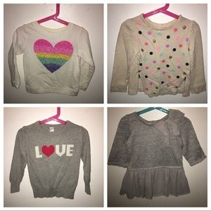 Other - 4 sweatshirts multiple designers all 4T